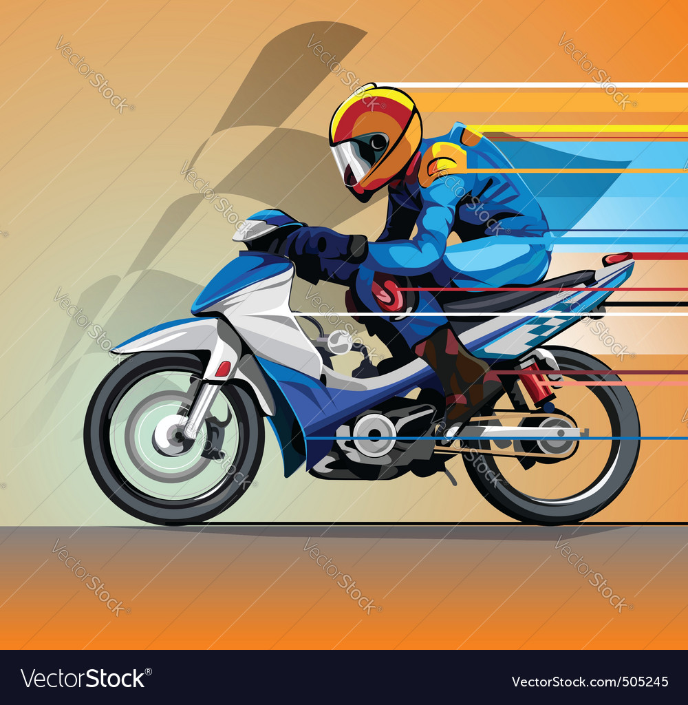 Motorcycle racing vector | Price: 3 Credit (USD $3)