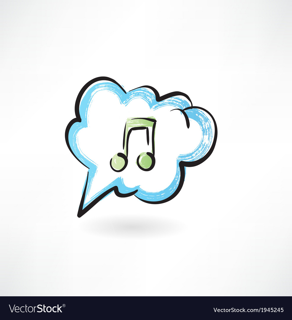 Music in the cloud vector | Price: 1 Credit (USD $1)