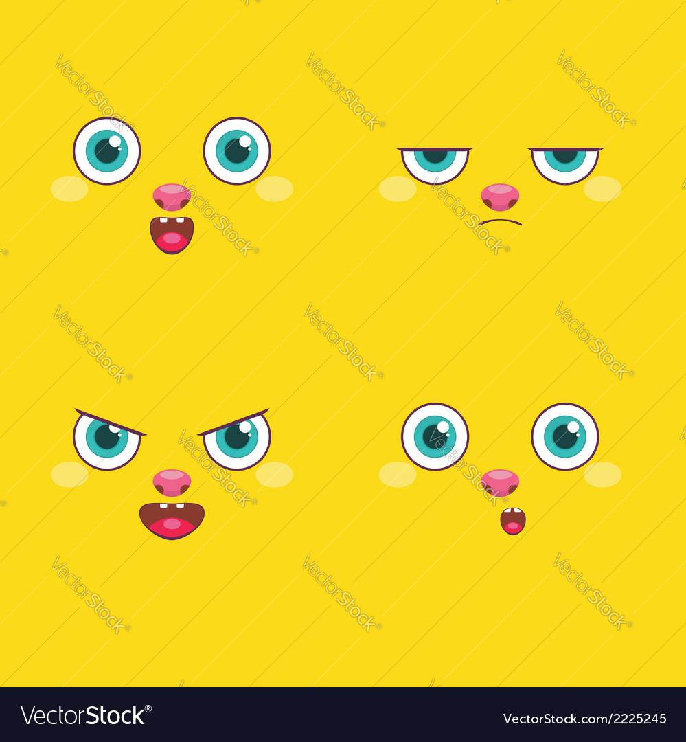 Set - smiley faces vector | Price: 1 Credit (USD $1)