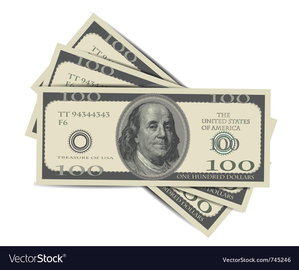 100 dollars vector | Price: 1 Credit (USD $1)