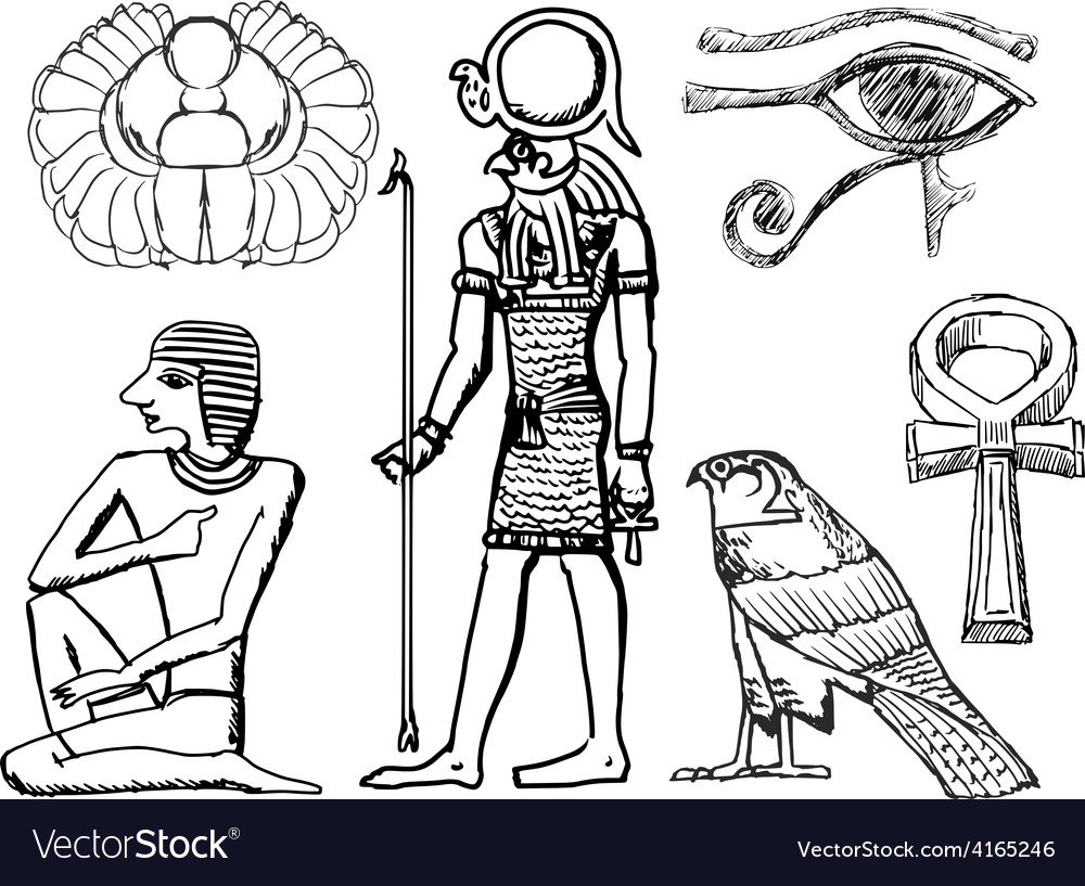 Ancient egyptian symbols vector | Price: 1 Credit (USD $1)