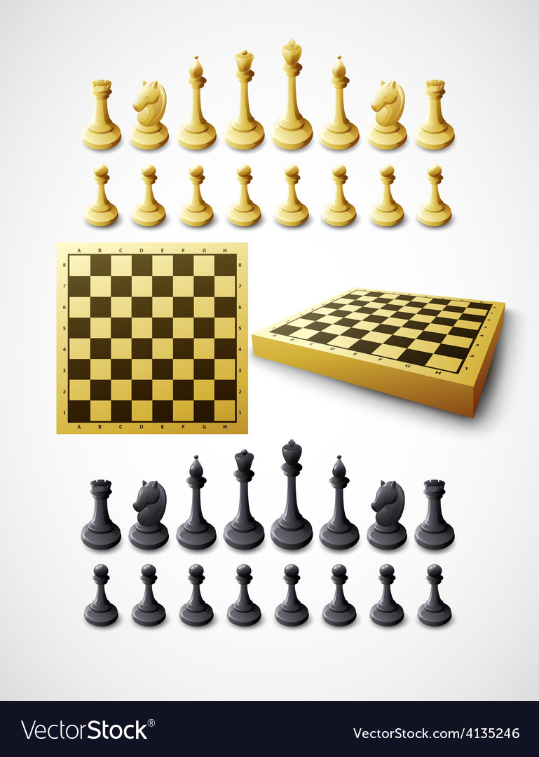 Chess and chessboard vector | Price: 3 Credit (USD $3)