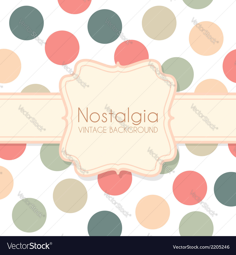 Cute vintage background with frame vector | Price: 1 Credit (USD $1)