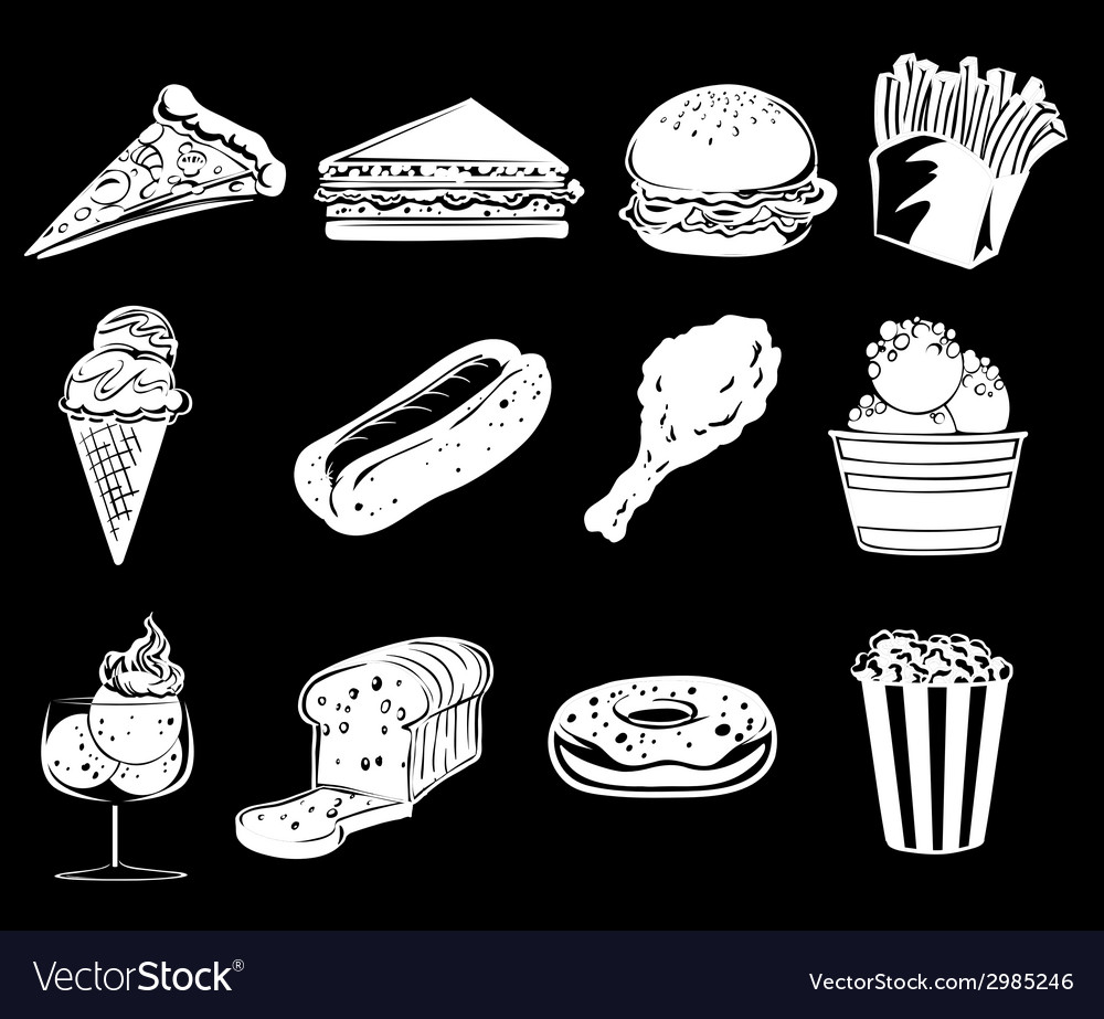 Different foods vector | Price: 1 Credit (USD $1)