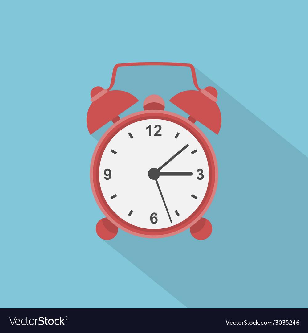 Flat alarm clock vector | Price: 1 Credit (USD $1)