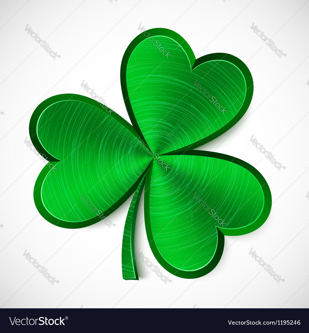 Green metallic isolated clover vector | Price: 1 Credit (USD $1)