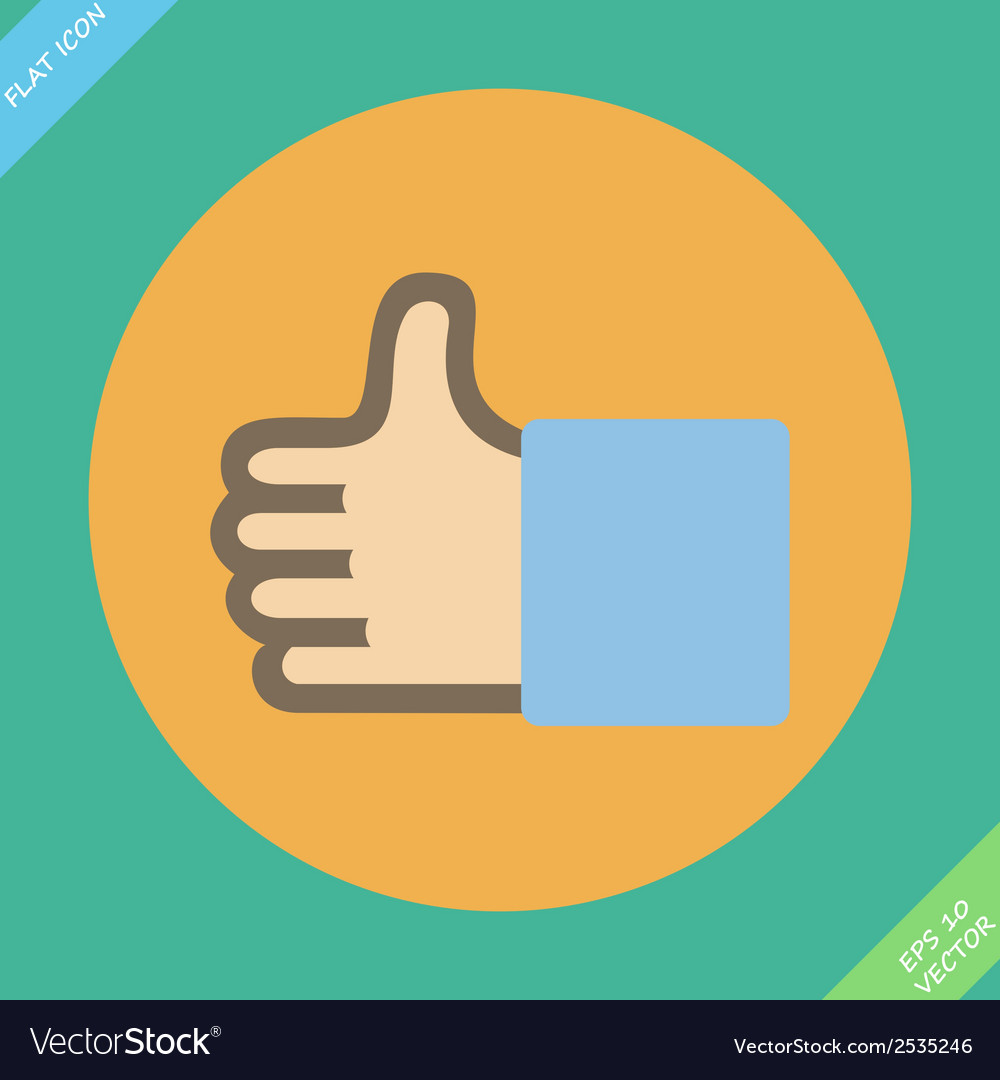 Like or thumbs up - vector | Price: 1 Credit (USD $1)
