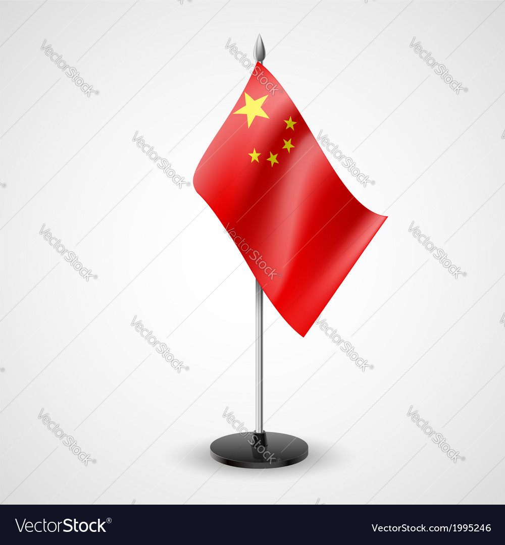 Table flag of china vector | Price: 1 Credit (USD $1)