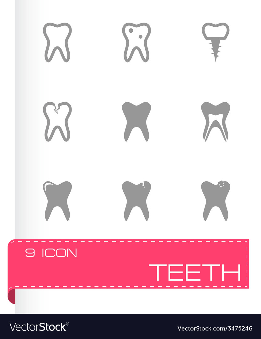 Teech icon set vector | Price: 1 Credit (USD $1)