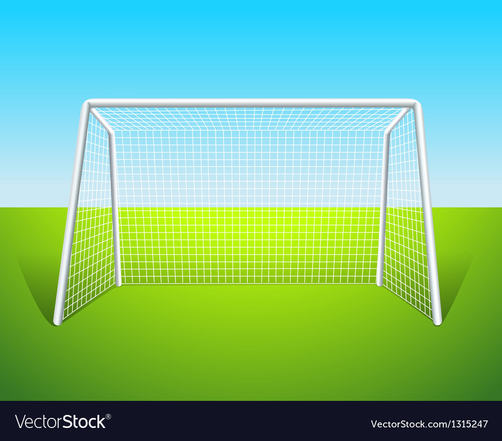 A soccer goal vector | Price: 1 Credit (USD $1)
