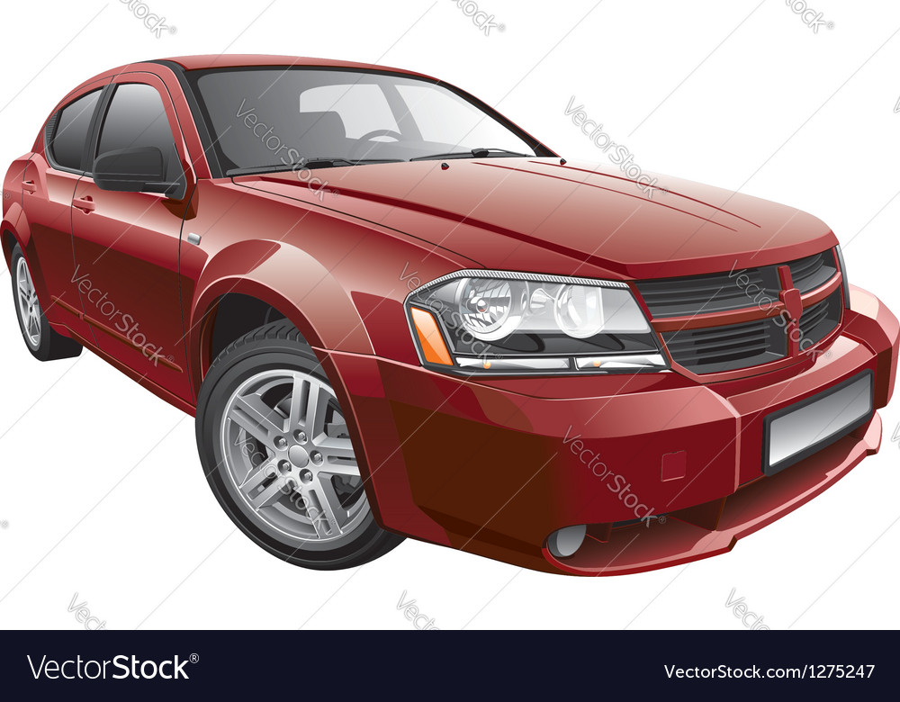 American mid size car vector | Price: 5 Credit (USD $5)