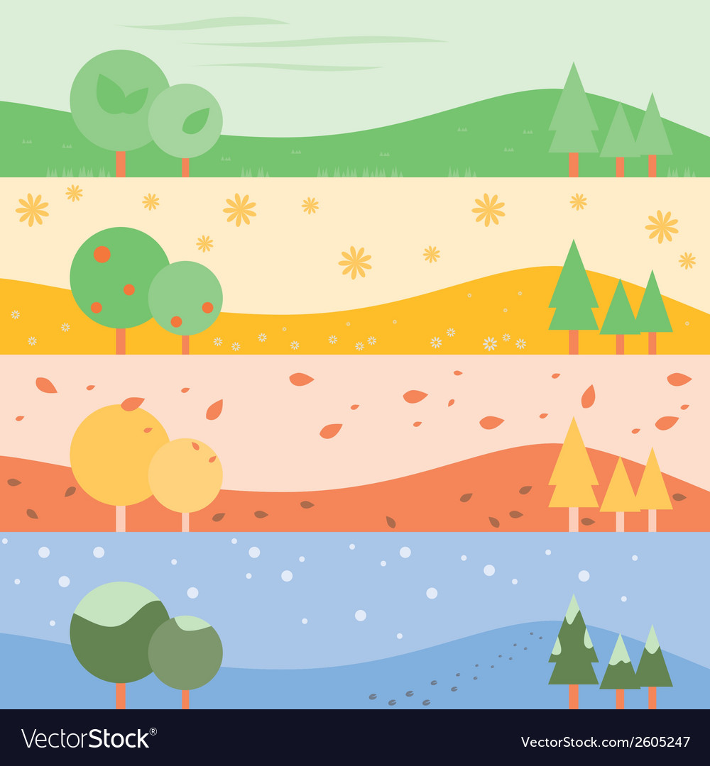 Banner seasons simple vector | Price: 1 Credit (USD $1)