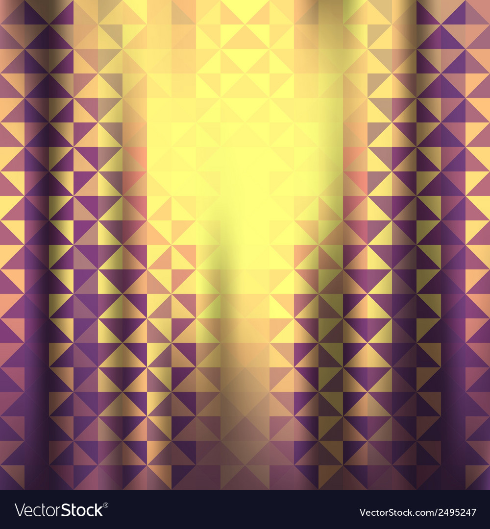 Creative triangle pattern background vector | Price: 1 Credit (USD $1)