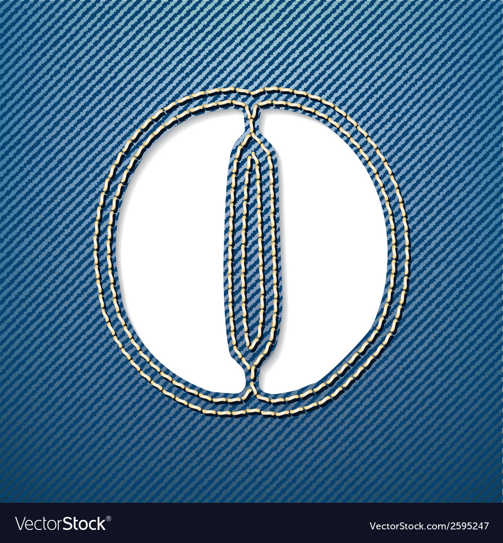Denim jeans letter o vector | Price: 1 Credit (USD $1)