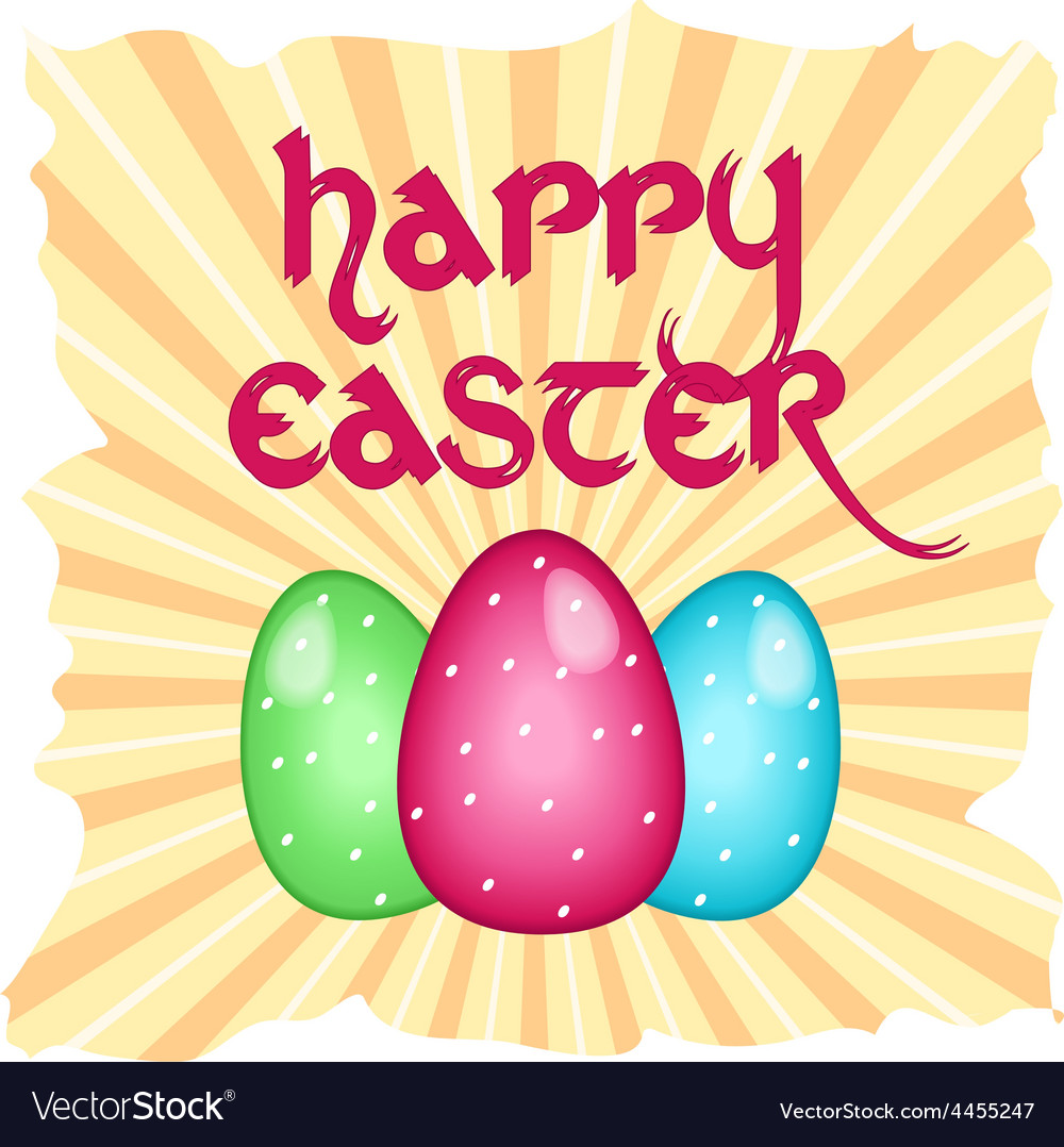 Easter card with text vector | Price: 1 Credit (USD $1)