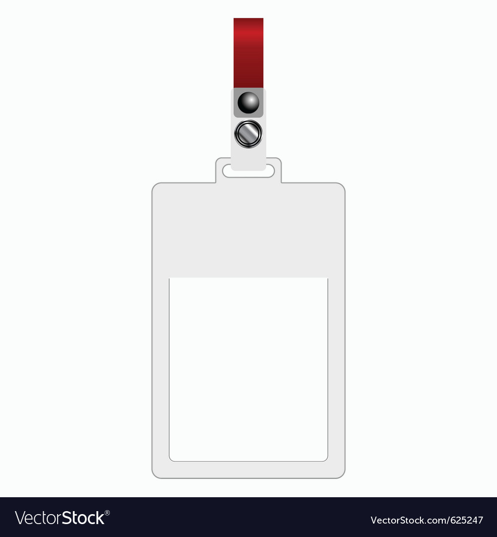 Empty plastic tag vector | Price: 1 Credit (USD $1)