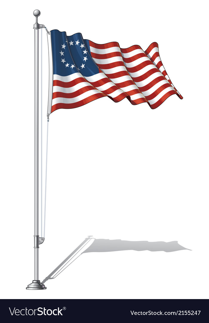 Flag pole usa betsy ross vector | Price: 1 Credit (USD $1)