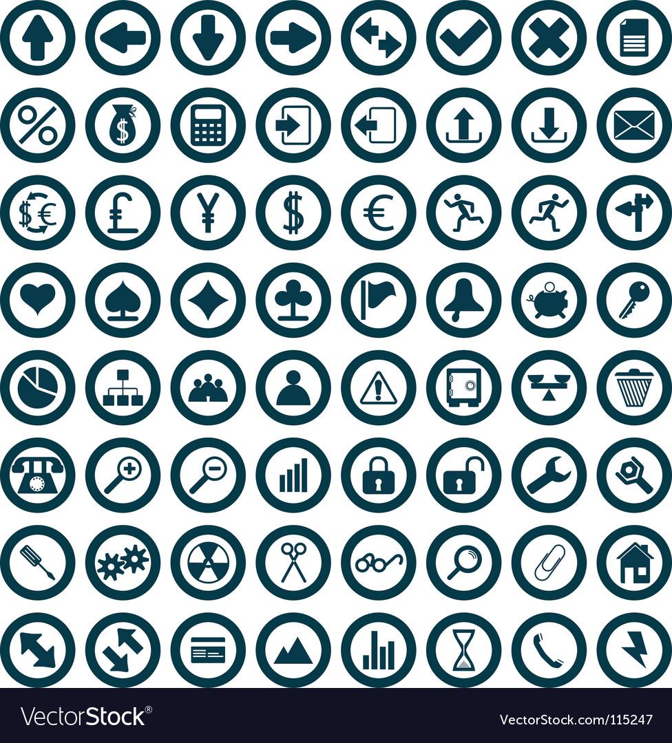 Icons set vector | Price: 1 Credit (USD $1)