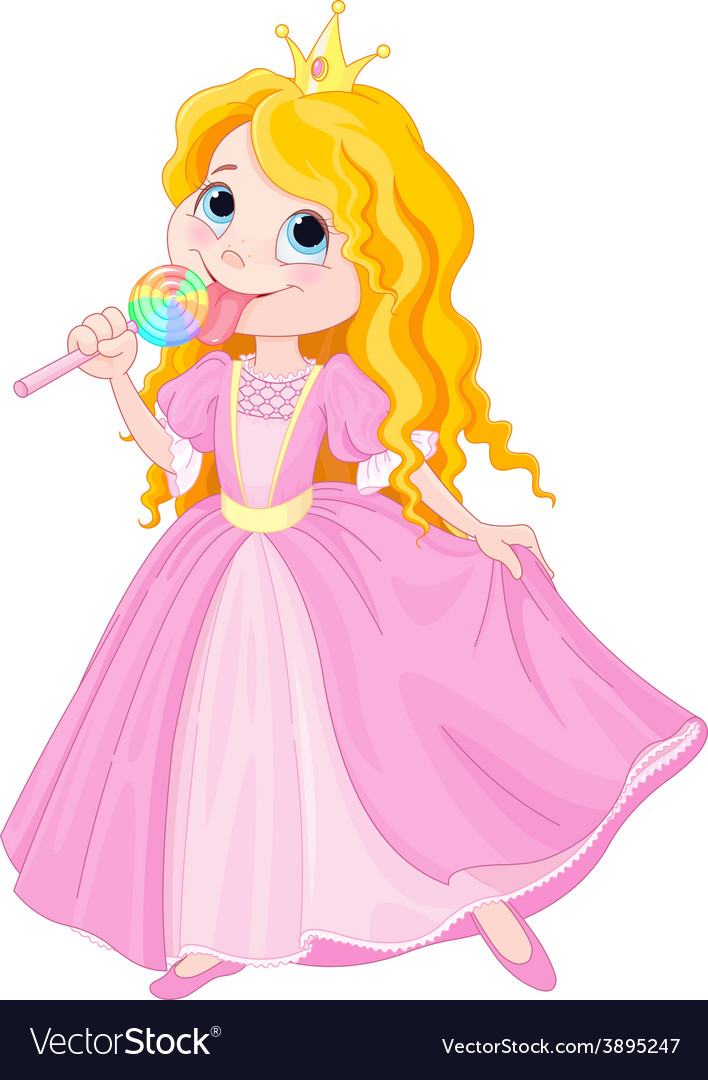 Princess licks lollipop vector | Price: 3 Credit (USD $3)