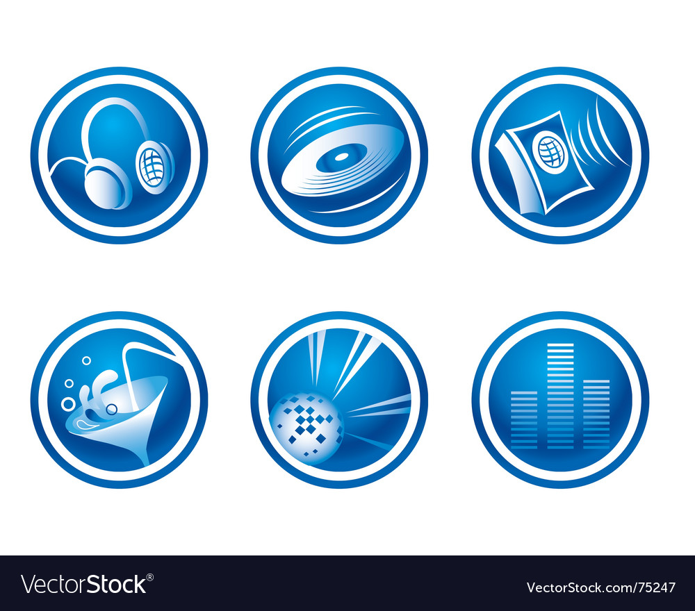 Set of party web icons vector | Price: 1 Credit (USD $1)
