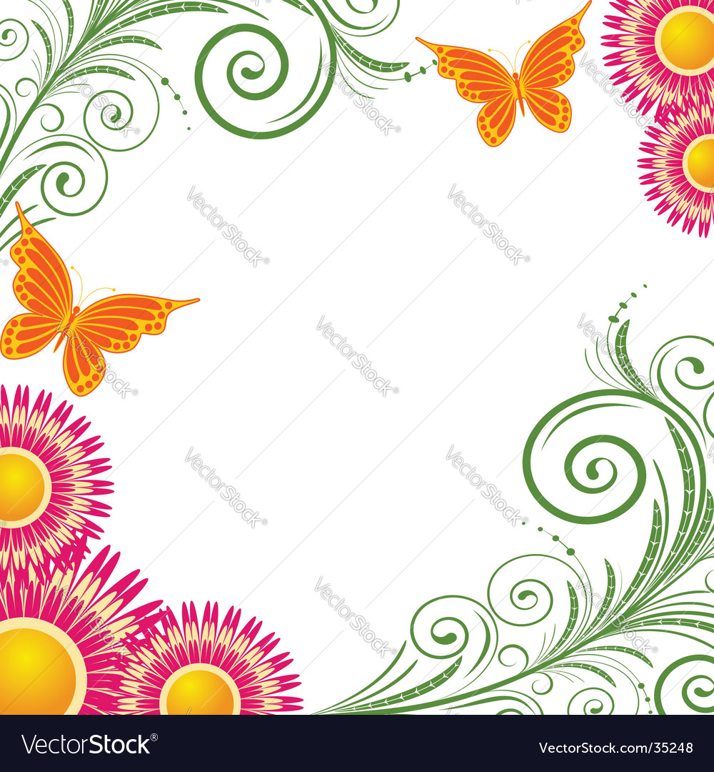 Background with abstract pink flowers vector | Price: 1 Credit (USD $1)