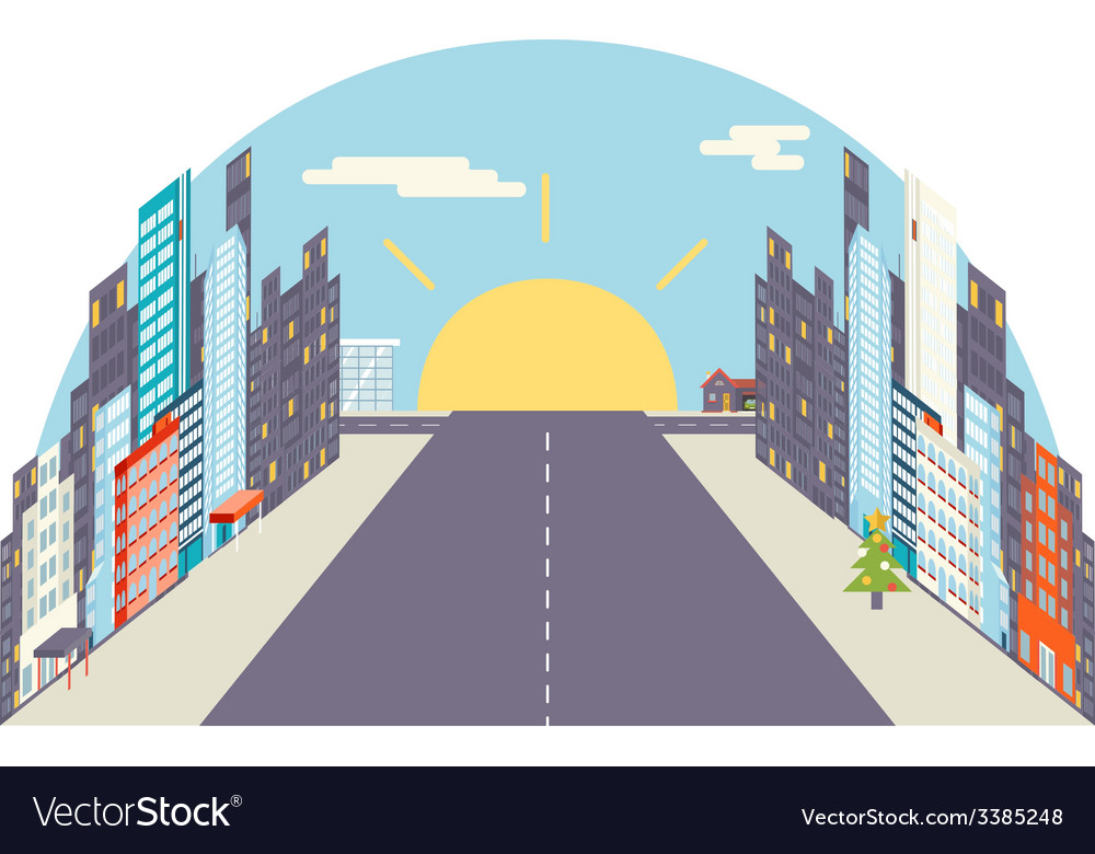 City flat vector | Price: 1 Credit (USD $1)