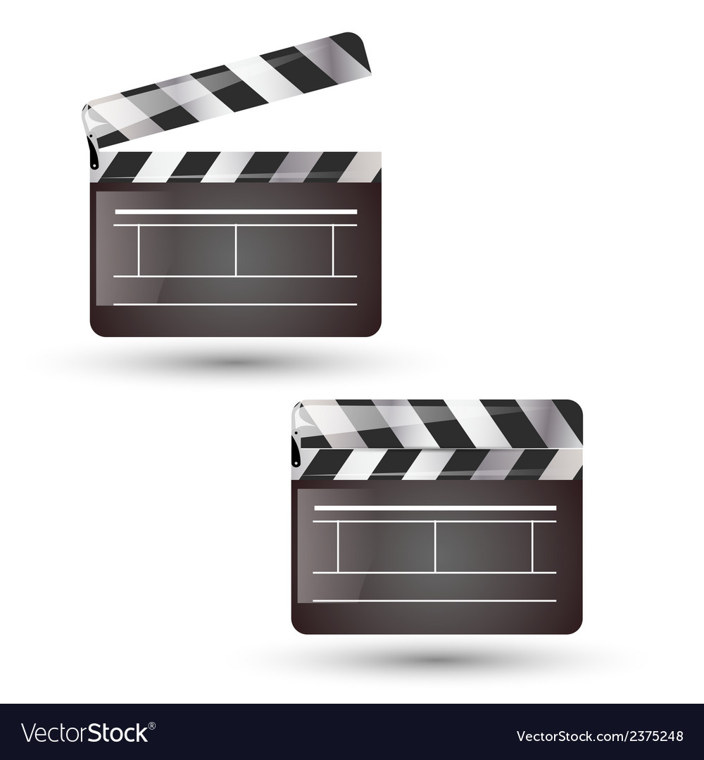 Clapper board isolated vector | Price: 1 Credit (USD $1)
