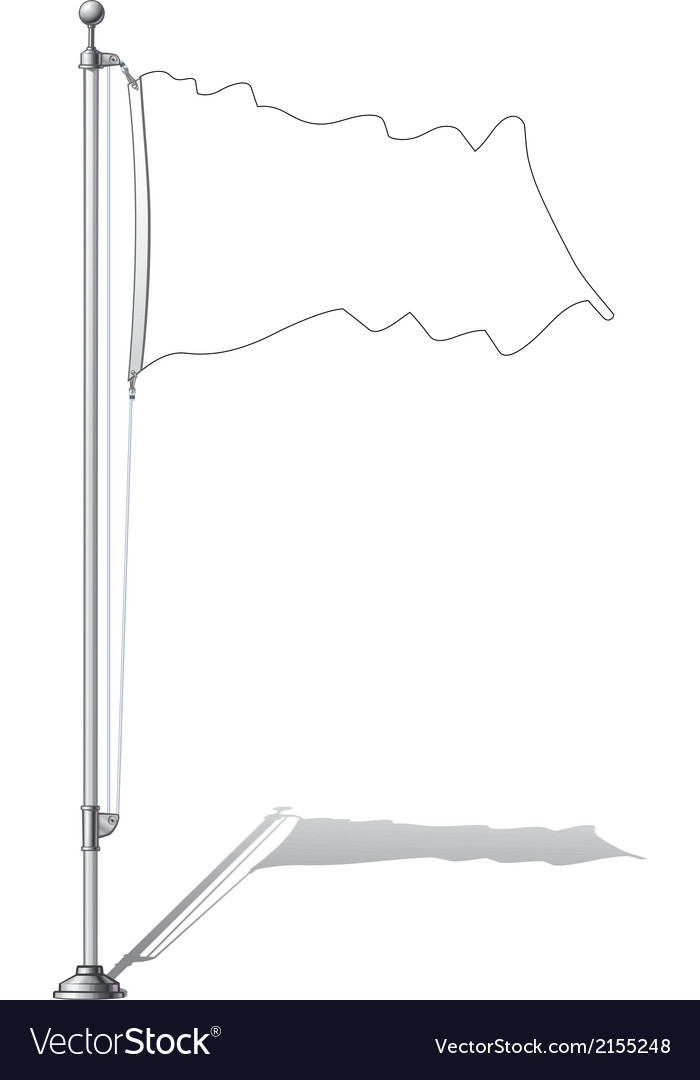 Flag pole vector | Price: 1 Credit (USD $1)