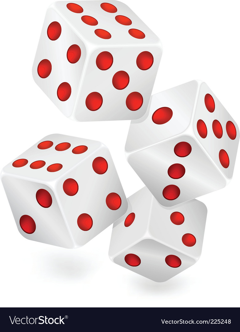 Four dices vector | Price: 1 Credit (USD $1)