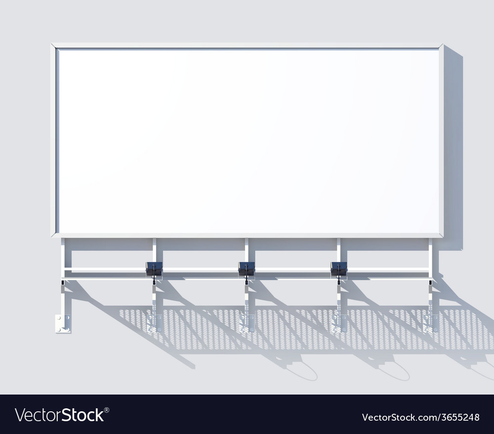 Gallery billboard blank vector | Price: 1 Credit (USD $1)