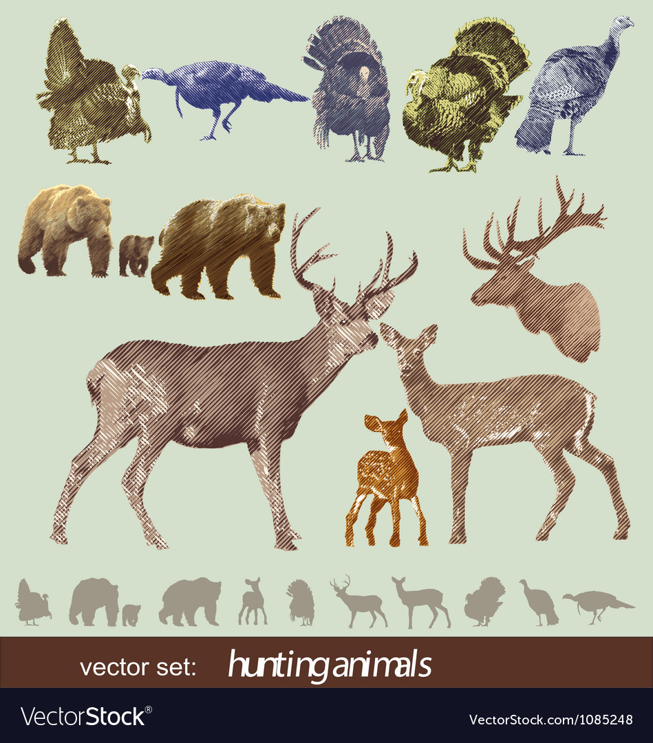 Hunting animals vector | Price: 1 Credit (USD $1)