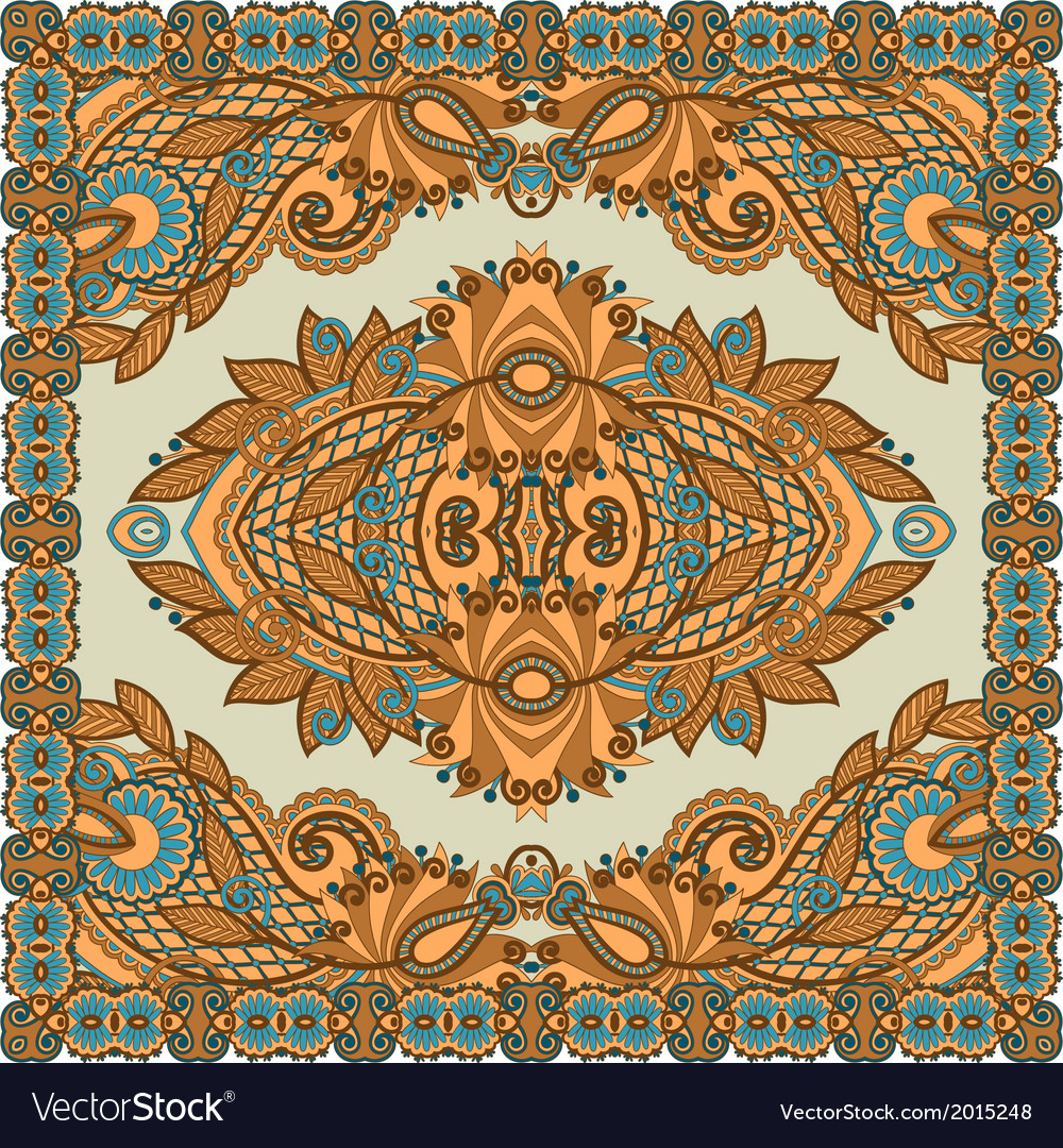 Original traditional ornamental floral paisley ban vector | Price: 1 Credit (USD $1)