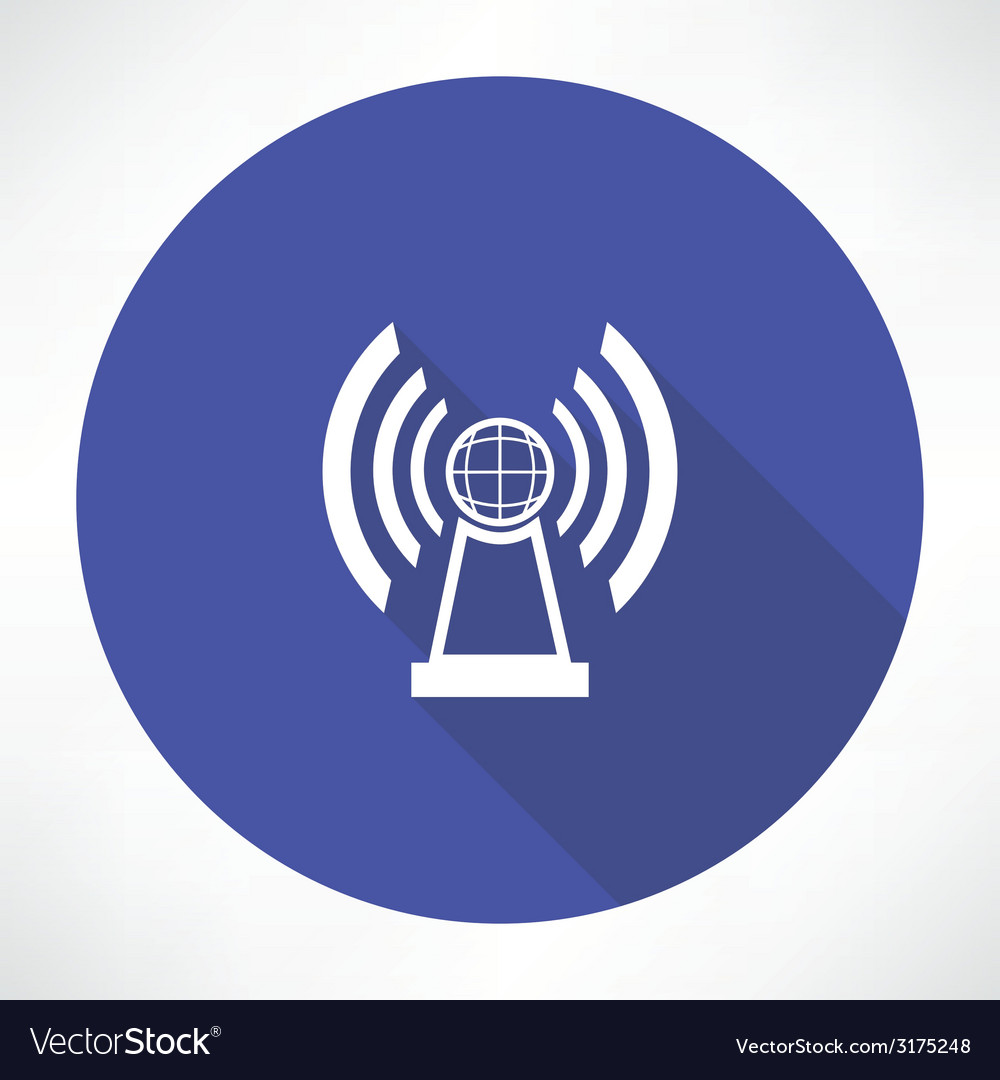 Radio station icon vector | Price: 1 Credit (USD $1)