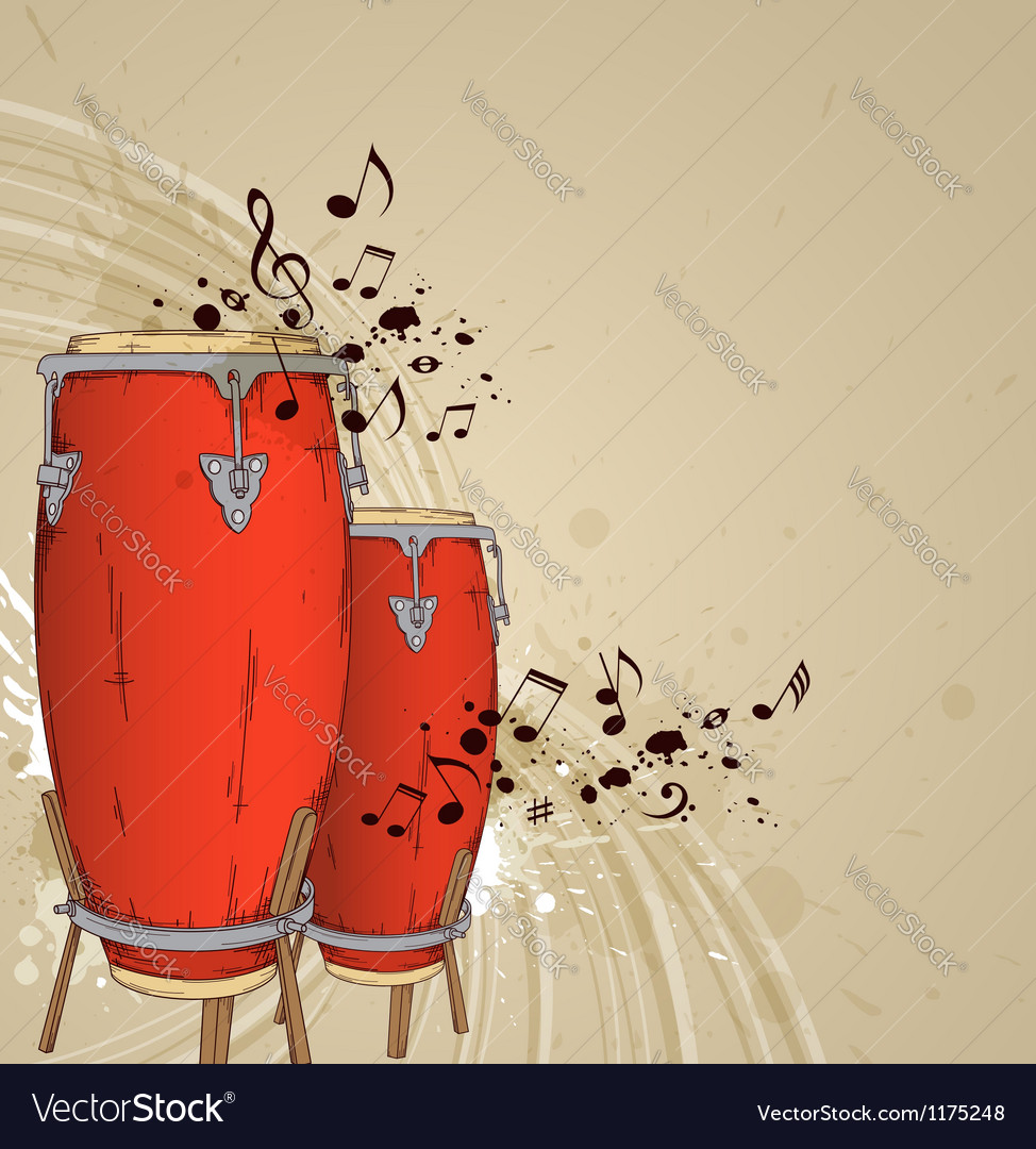 Red drums vector | Price: 1 Credit (USD $1)