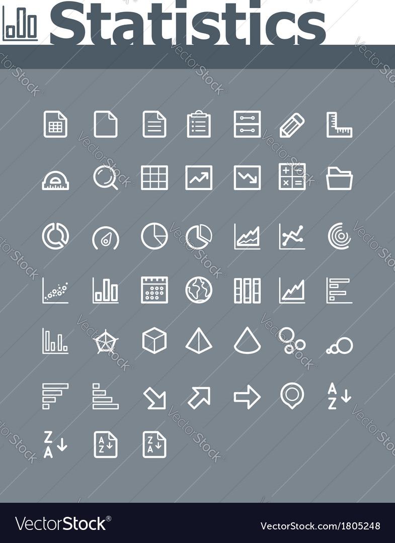 Statistic elements icon set vector | Price: 1 Credit (USD $1)
