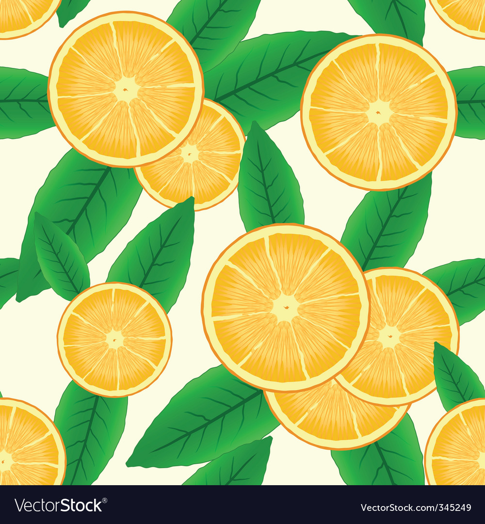 Abstract background with citrus fruit vector | Price: 1 Credit (USD $1)