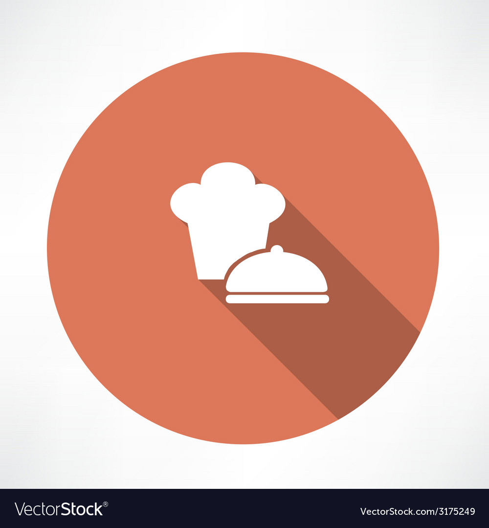Chef hat and saucepan icon vector | Price: 1 Credit (USD $1)