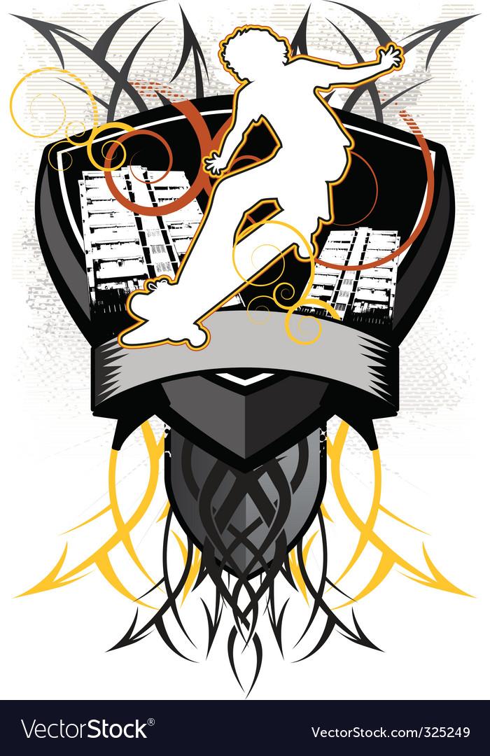 Design heraldry vector | Price: 1 Credit (USD $1)