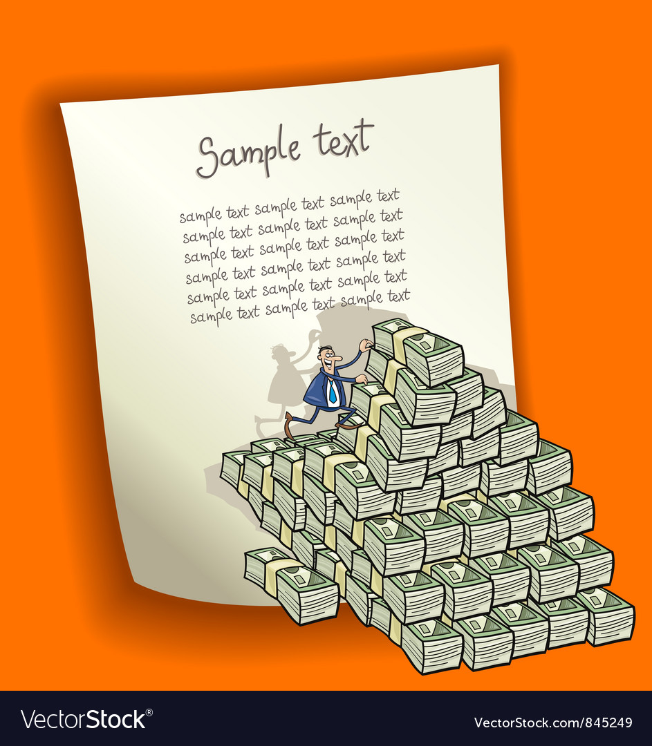 Design with money heap vector | Price: 1 Credit (USD $1)