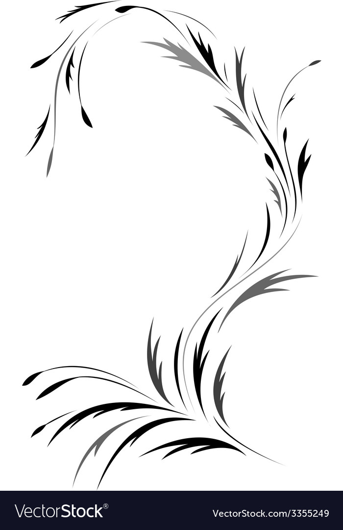 Floral tattoo design vector | Price: 1 Credit (USD $1)