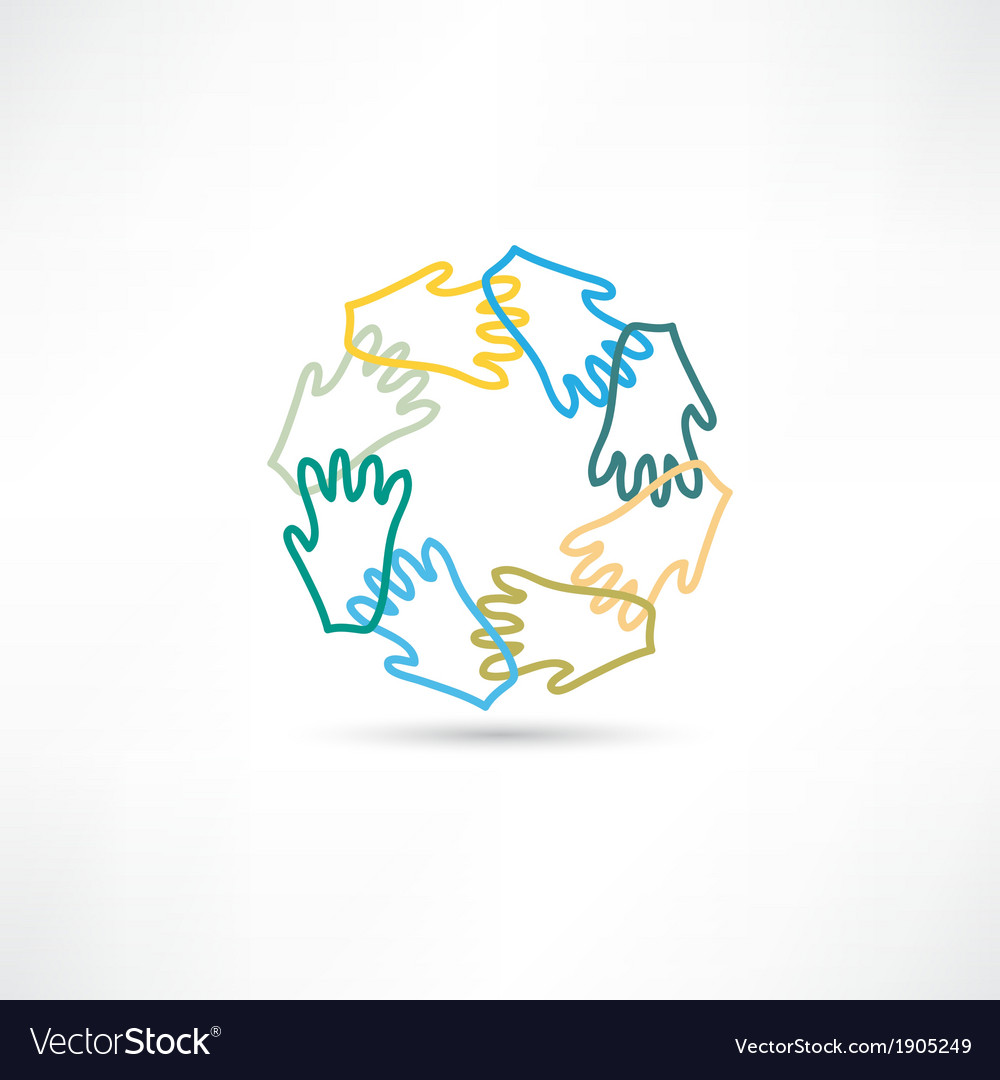 Group hands icon icon vector | Price: 1 Credit (USD $1)