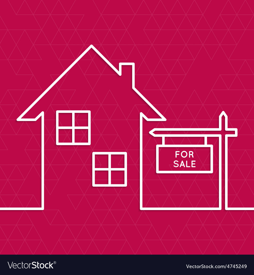 House with a sign for rent vector | Price: 1 Credit (USD $1)