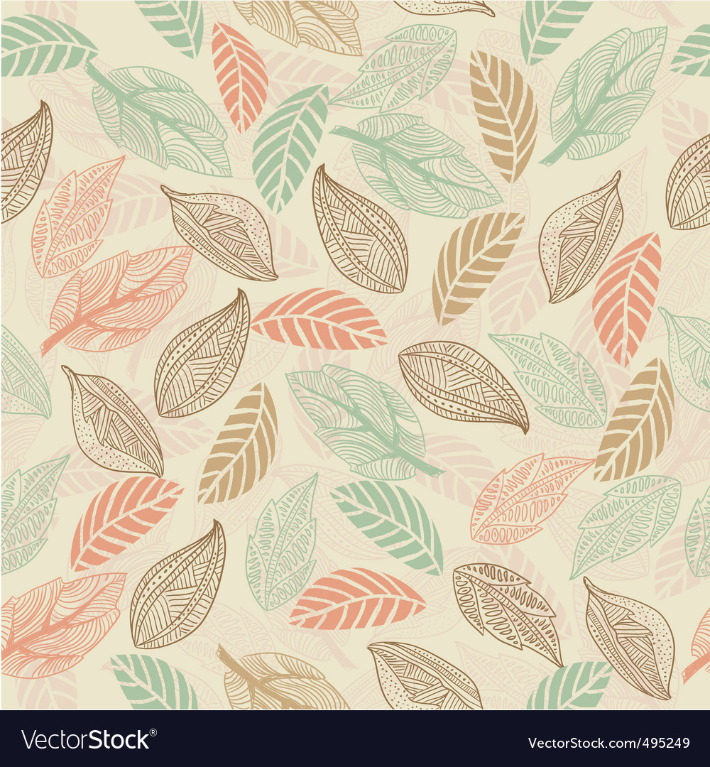 Leaf wallpaper vector | Price: 1 Credit (USD $1)