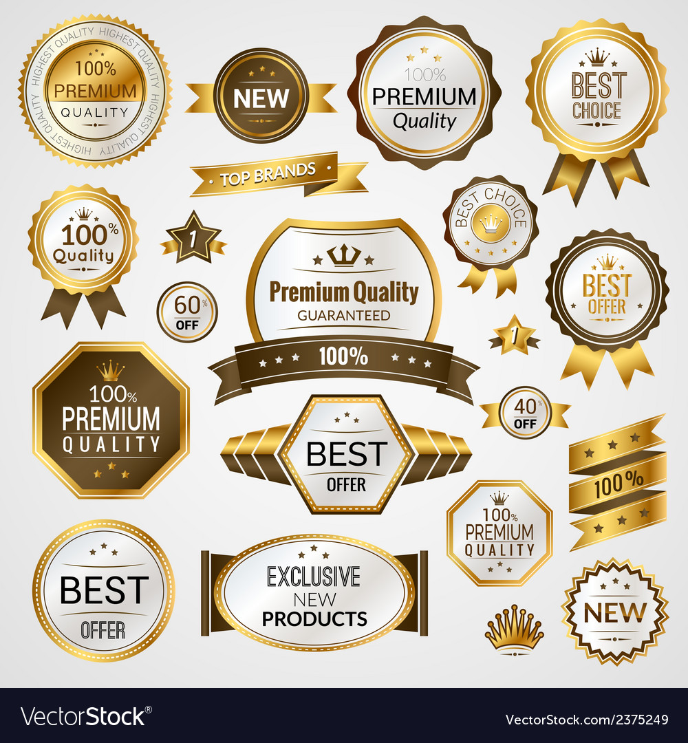 Luxury labels set vector | Price: 1 Credit (USD $1)