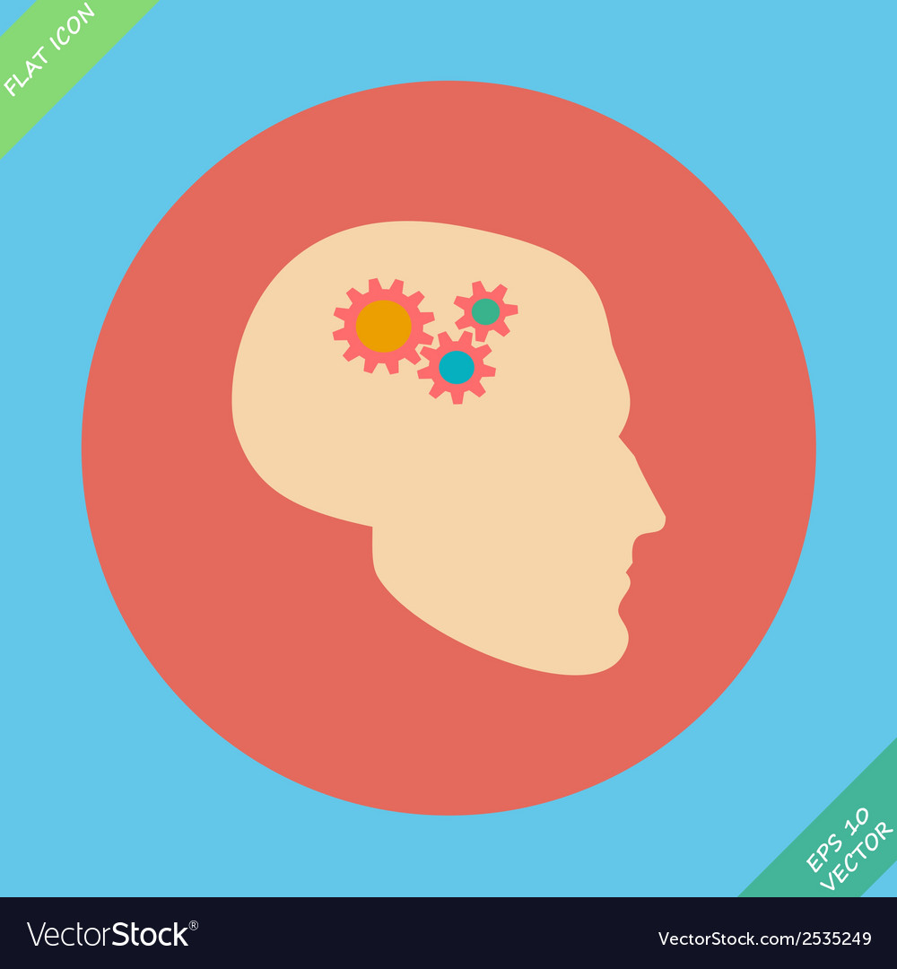 Profile and gear - vector | Price: 1 Credit (USD $1)