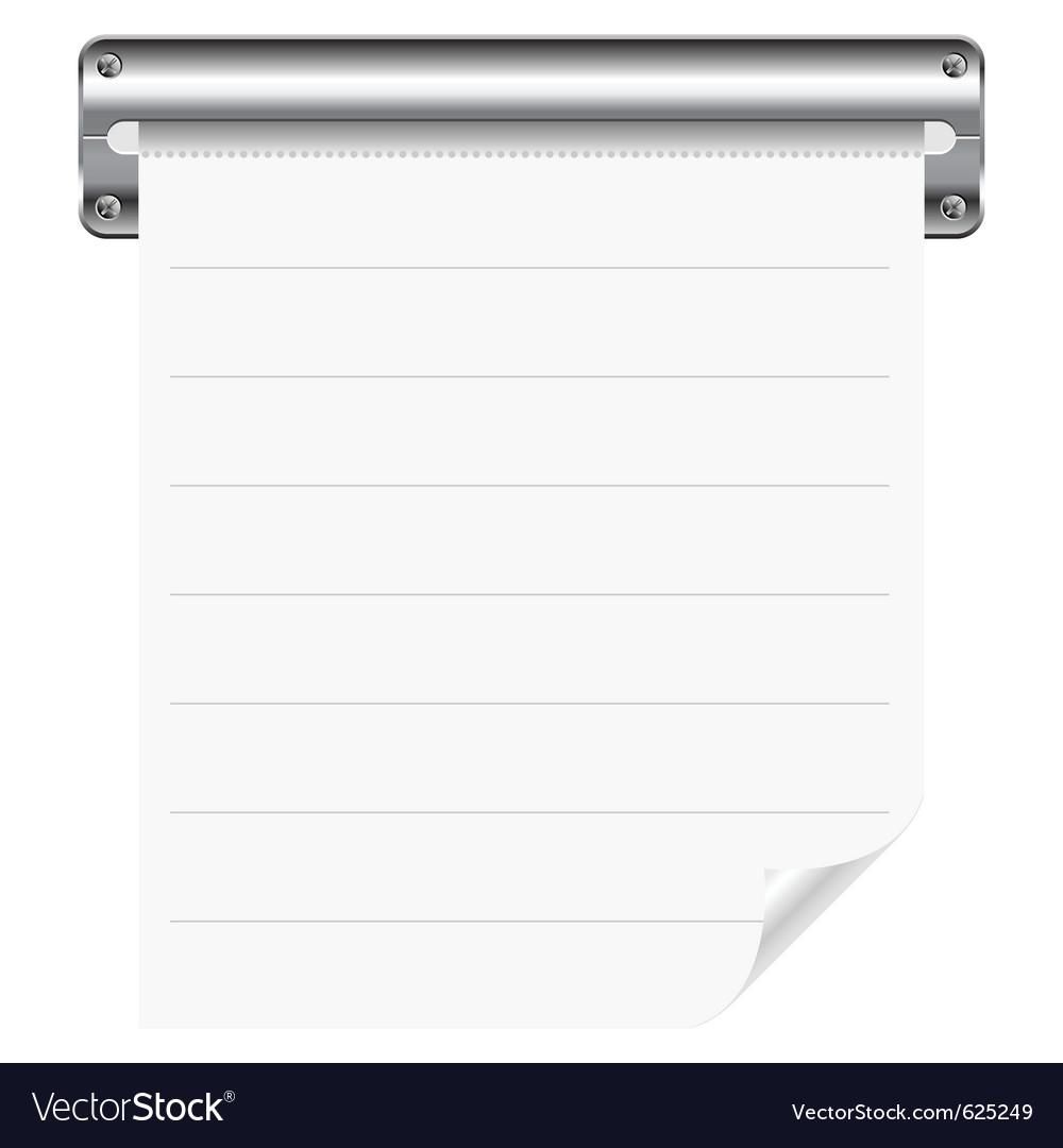 Receipt paper vector | Price: 1 Credit (USD $1)