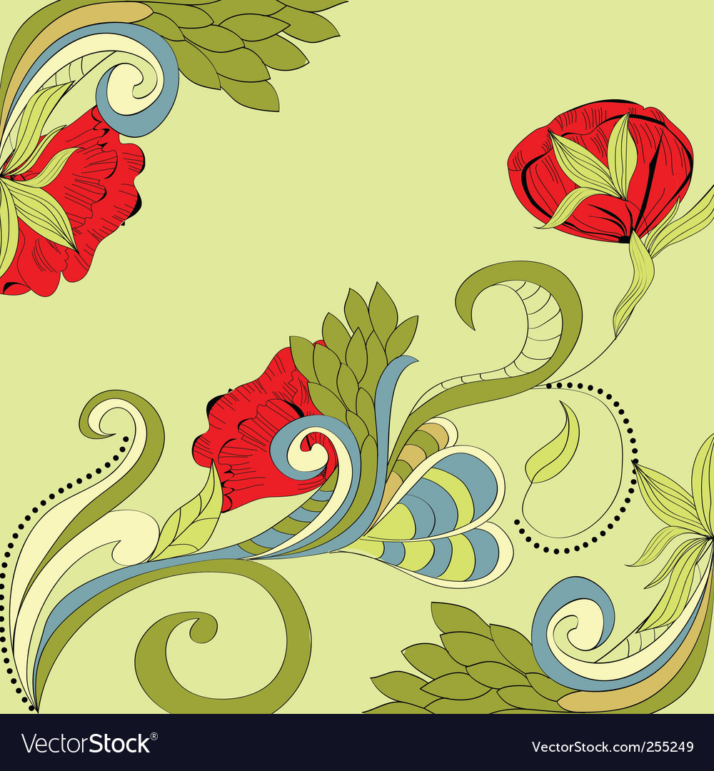 Romantic floral background vector | Price: 1 Credit (USD $1)