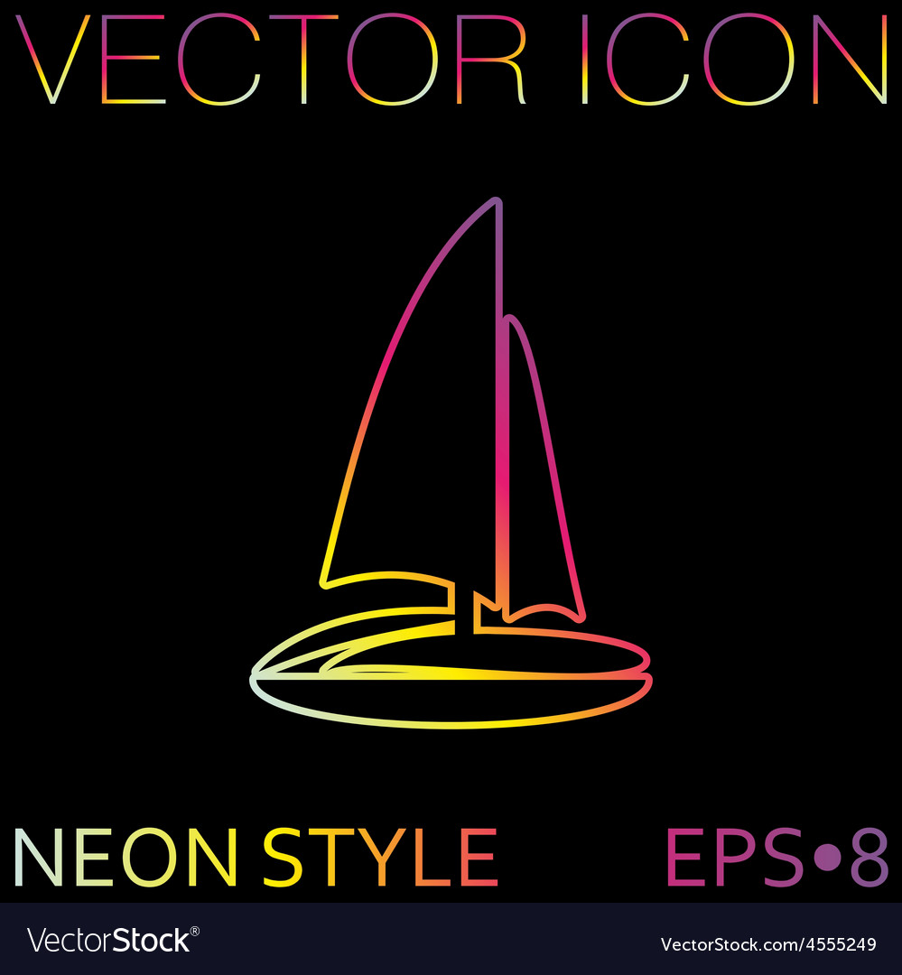 Sailing ship symbol icon boat steamer sailboat vector | Price: 1 Credit (USD $1)