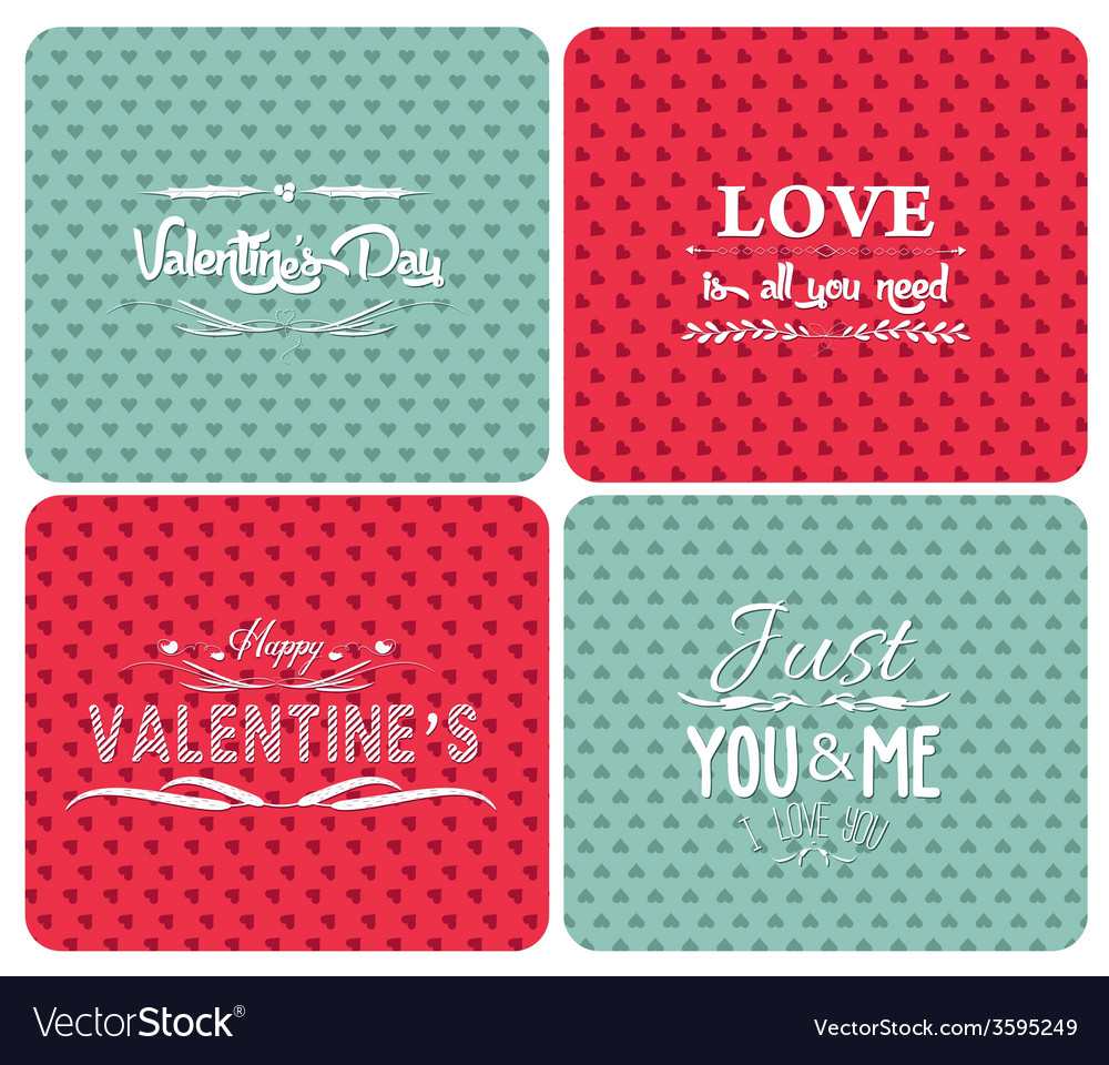 Set happy valentines day and weeding cards vector | Price: 1 Credit (USD $1)