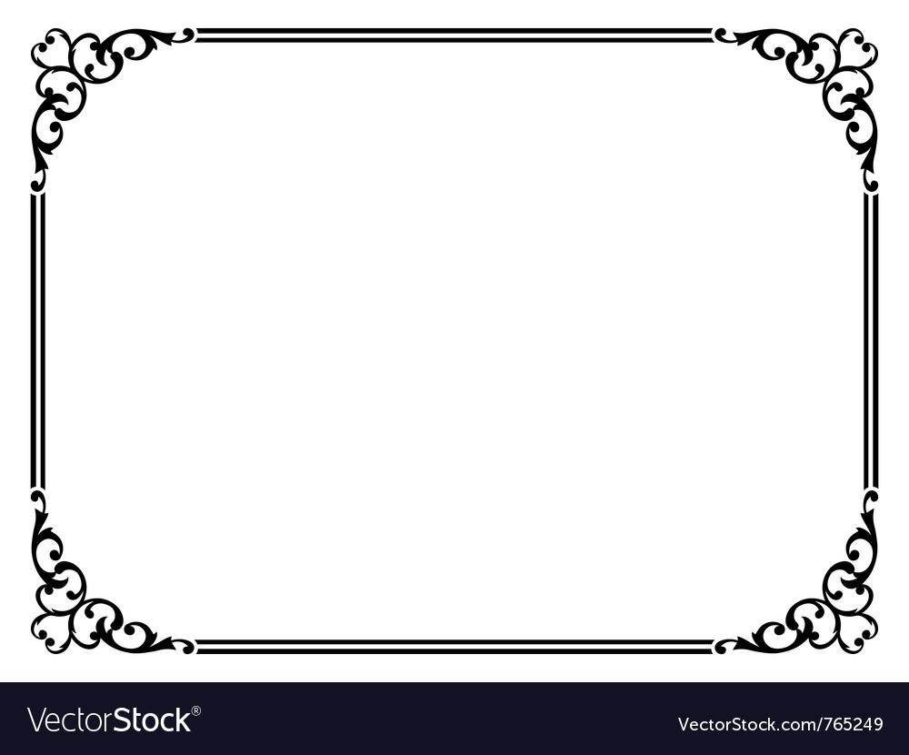 Simple ornamental frame vector | Price: 1 Credit (USD $1)